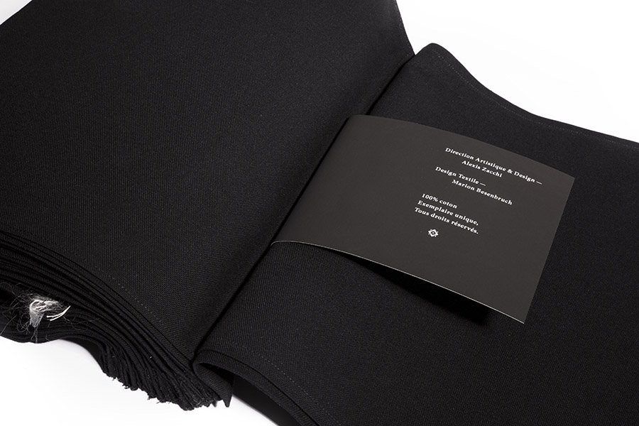 Editorial Design made of pure cotton sheets binded together